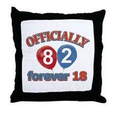 Officially 82 forever 18 Throw Pillow