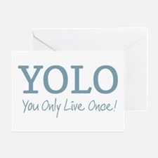 YOLO You Only Live Once Greeting Cards