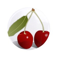 """Two Cherries 3.5"""" Button"""
