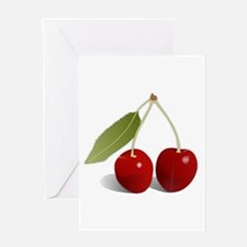 Two Cherries Greeting Cards