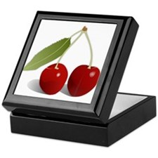 Two Cherries Keepsake Box