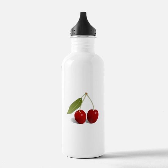 Two Cherries Water Bottle