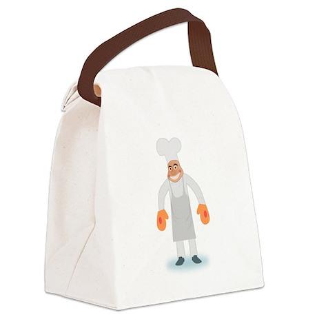 Cartoon BBQ Chef Canvas Lunch Bag