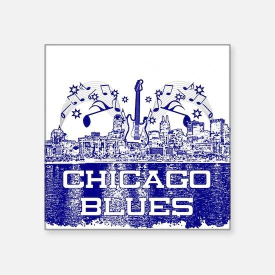 Chicago BLUES-4 Sticker
