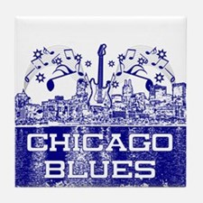 Chicago BLUES-4 Tile Coaster