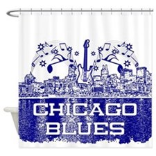 Chicago BLUES-4 Shower Curtain