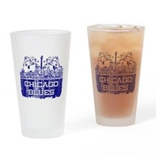 Chicago BLUES-4 Drinking Glass