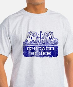 Chicago BLUES-4 T-Shirt