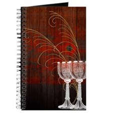 Rustic Sunset Silver Goblets Journal