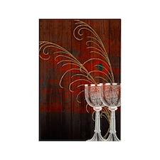 Rustic Sunset Silver Goblets Rectangle Magnet