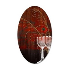 Rustic Sunset Silver Goblets Wall Decal