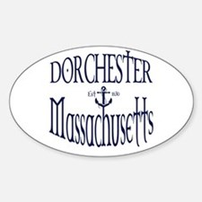 Dorchester Anchor Sticker (Oval)