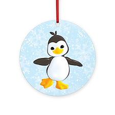 Penguin Greetings Ornament (Round)