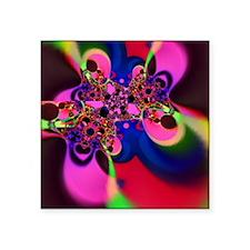 "Psychedelic Groovy Swirls Square Sticker 3"" x 3"""