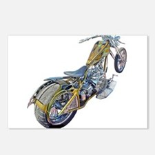 Chopper Motorcycle Postcards (Package of 8)