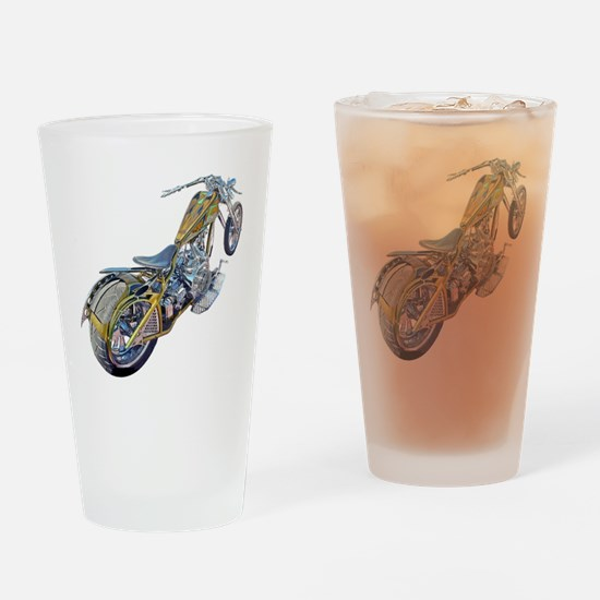 Chopper Motorcycle Drinking Glass