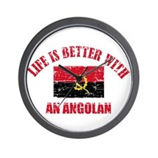 Life is better with a Angolan Wall Clock