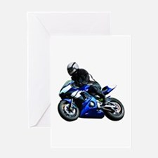 Sports Bike Greeting Cards
