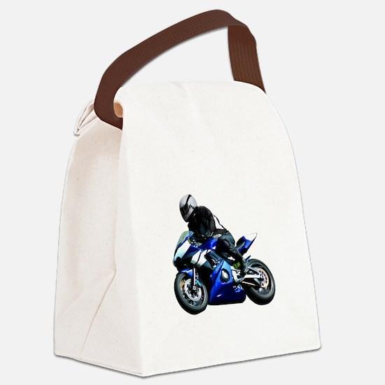 Sports Bike Canvas Lunch Bag