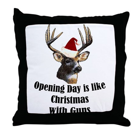 Opening day is like christmas Throw Pillow