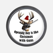 Opening day is like christmas Wall Clock