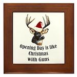 Opening day is like christmas Framed Tile