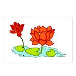 Orange Lotus Postcards (Package of 8)