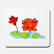Orange Lotus Mousepad
