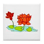 Orange Lotus Tile Coaster