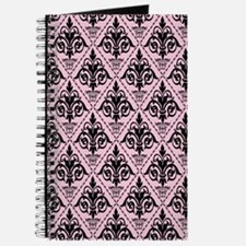 Black & Baby Pink Damask #29 Journal