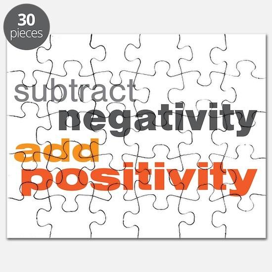 Subtract Negativity Add Positivity Puzzle