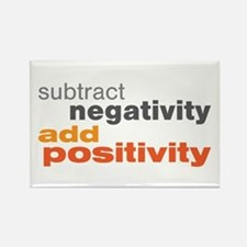 Subtract Negativity Add Positivity Rectangle Magne