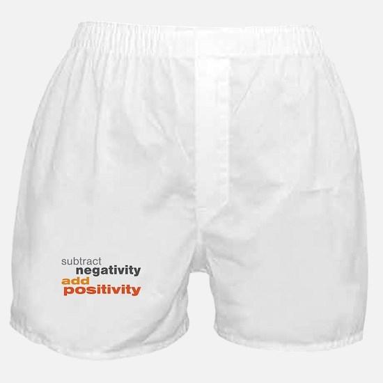 Subtract Negativity Add Positivity Boxer Shorts