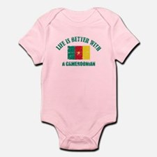 Life is better with a Cameroonian Infant Bodysuit