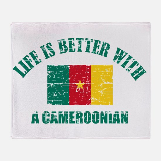 Life is better with a Cameroonian Throw Blanket