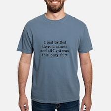 Cute Thyroid cancer survivor Mens Comfort Colors Shirt