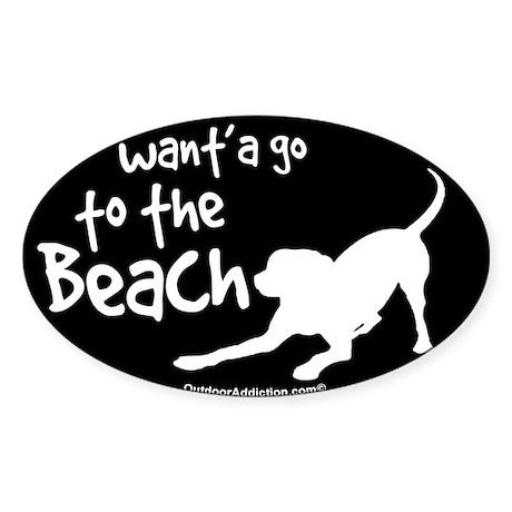 Wanta go to the beach dog Sticker