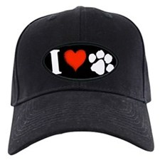 I love paws Baseball Hat