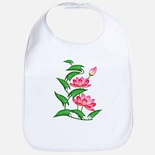 Pink Lillies Bib