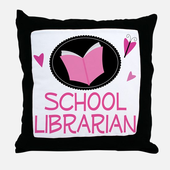 School Librarian Throw Pillow