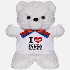 I love my Polka daddy Teddy Bear