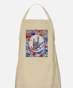 Cute I love american bulldogs Light Apron