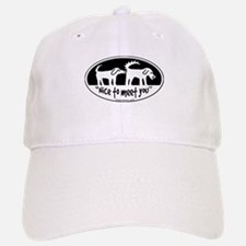 Nice to meet you dog sniff Baseball Baseball Baseball Cap