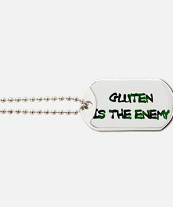 Gluten Is The Enemy Dog Tags