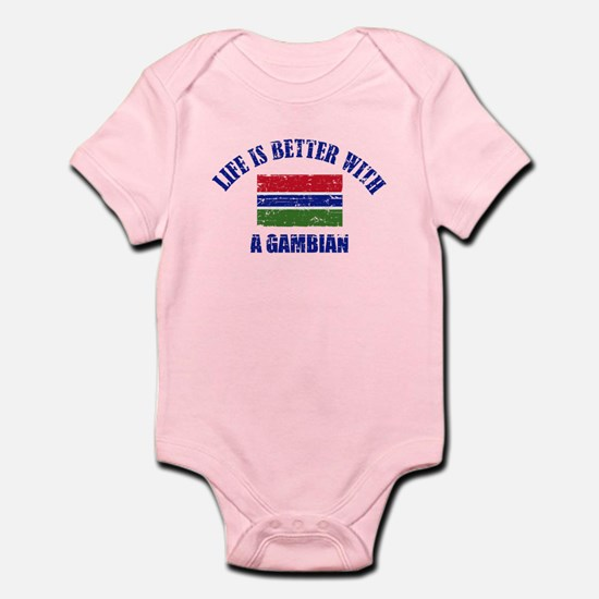 Life is better with a Gambian Infant Bodysuit