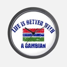 Life is better with a Gambian Wall Clock