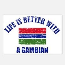 Life is better with a Gambian Postcards (Package o