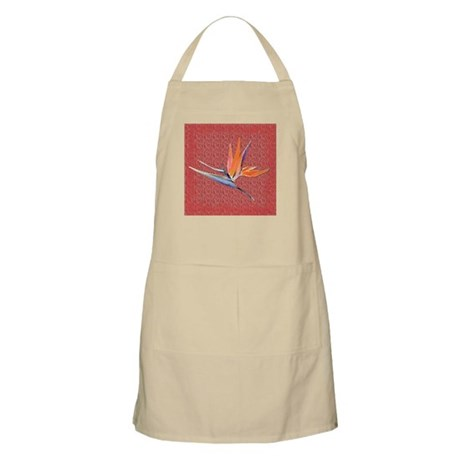 Red Bird of Paradise Apron