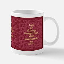 Philippians 4:13 IXOYE Rose Mug