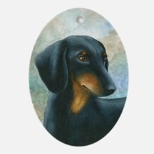 Dog 90 Oval Ornament